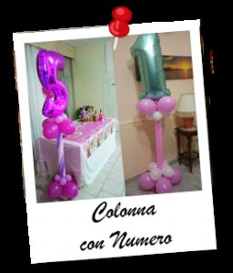 colonna numero compleanno addobbo