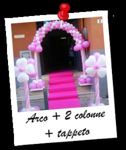 Arco + 2 colonne + tappeto