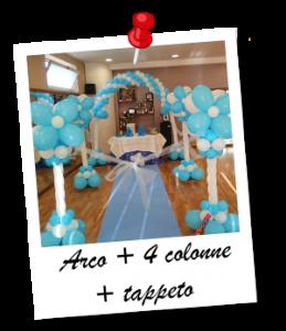 Arco + 4 colonne + tappeto + spara