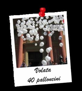 volata palloncini allestimento addobbi per feste
